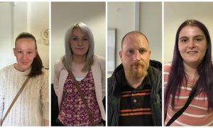 Leanne Burry, Hayley Marshall, Derek McKenzie and Dorothy Whyte.