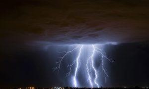 Lightning is forecast.