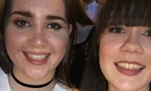 Laura Barr (left) and Hailey Duff in the Manchester area before the bomber's attack