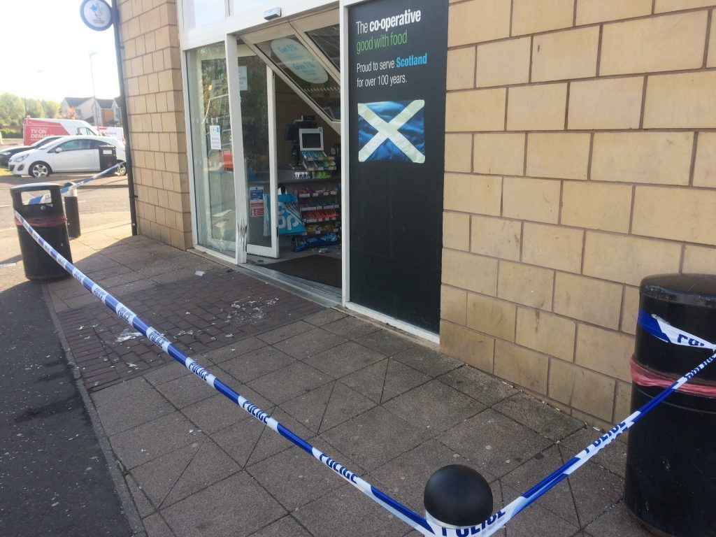 The store remains cordoned off by police.