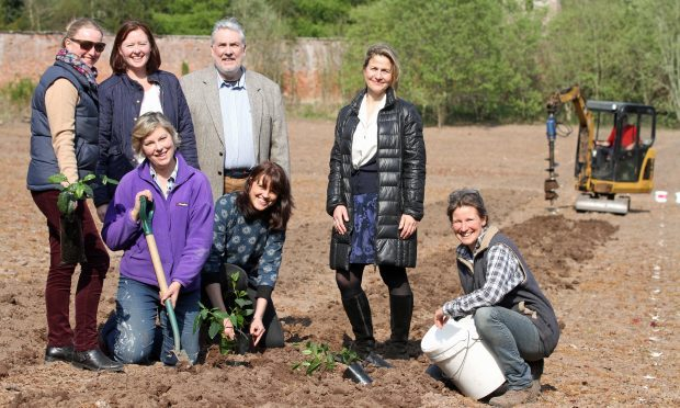 Back row, Jane Spencer-Nairn, treasurer, Sharon Rice-Jones, Rural Perth and Kinross Leader Programme Co-ordinator, Dougie Pond, Chairman of the Local Action Group, Catharine Idle, Rural Fife Leader, front row, Pinkie Methven, tea planter, Bev Wainwright, tea consultant and Susie Walker-Munro, Chairperson of Artisan Tea Gardens Ltd.