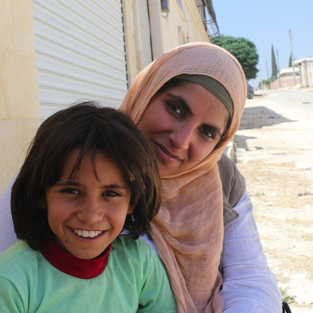Dr Saleyha Ahsan in Syria.She has made a number of documentaries.