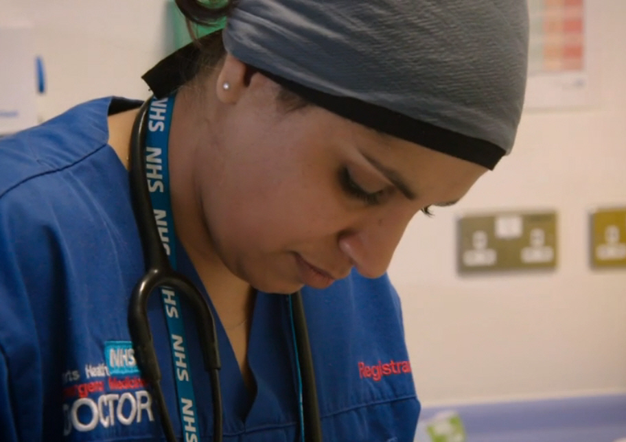 Dr Saleyha Ahsan works at the front line of the NHS