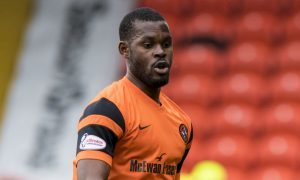 22/04/17 LADBROKES CHAMPIONSHIP   DUNDEE UTD V ST MIRREN (3-2)   TANNADICE - DUNDEE   Wato Kuate in action for Dundee United