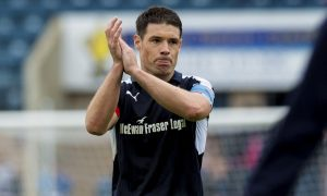 13/05/17 LADBROKES PREMIERSHIP   DUNDEE V ROSS COUNTY  DENS PARK - DUNDEE  Dundee captain Darren O'Dea at full time