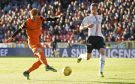 16/05/17 LADBROKES PREMIERSHIP PLAY OFF SEMI-FINAL 1ST LEG  DUNDEE UNITED v FALKIRK  TANNADICE - DUNDEE  Dundee United's Simon Murray (L) scores the opening goal to make it 1-0.