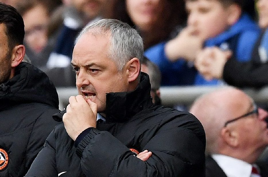Ray McKinnon during the play-off thriller.