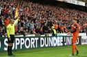 25/05/17 LADBROKES PREMIERSHIP PLAY-OFF FINAL 1ST LEG  DUNDEE UNITED v HAMILTON  TANNADICE - DUNDEE  Dundee United's Simon Murray pleads with the linesman.