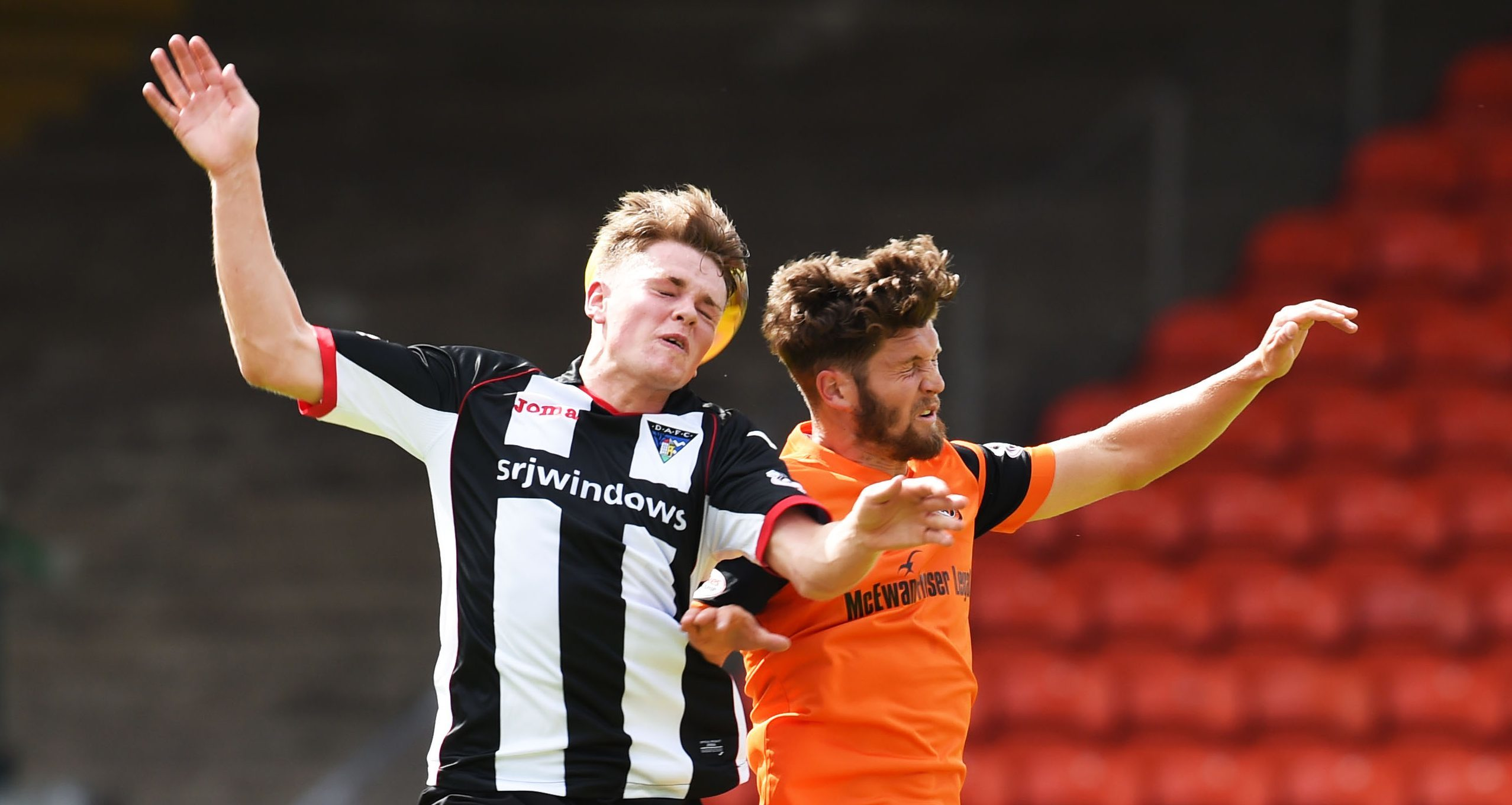 Lewis Spence in action against Dundee United.