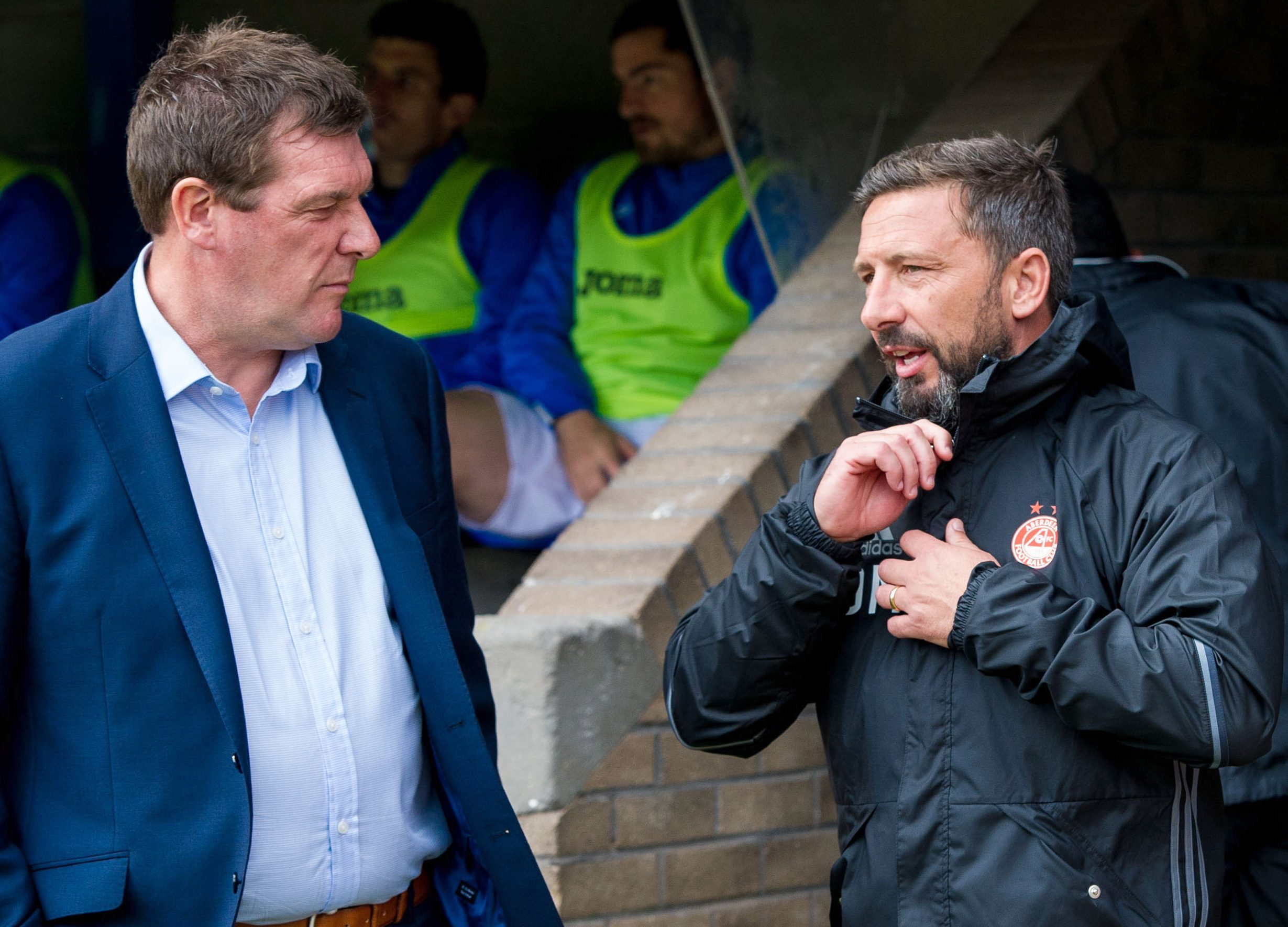 Tommy Wright won't be replacing Derek McInnes at Aberdeen.
