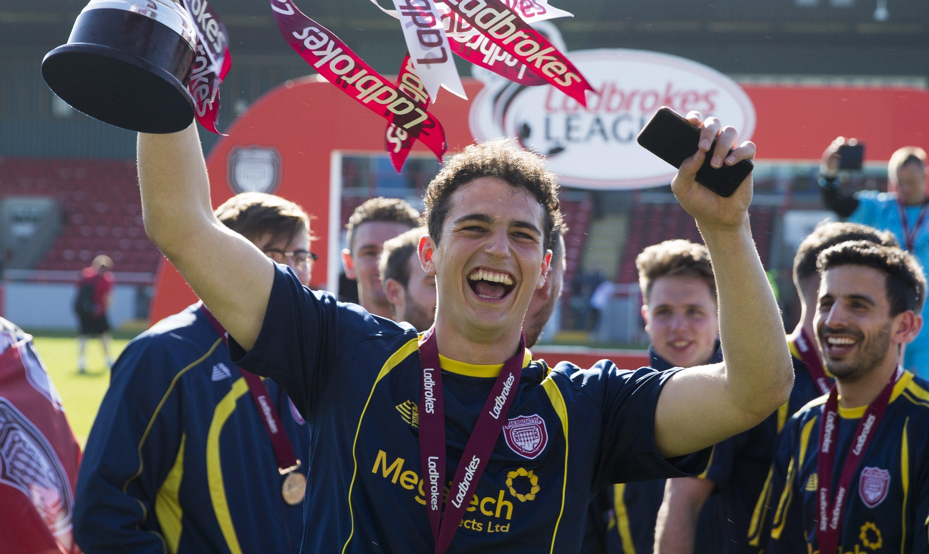 Jassem Sukar won League 2 with Arbroath.