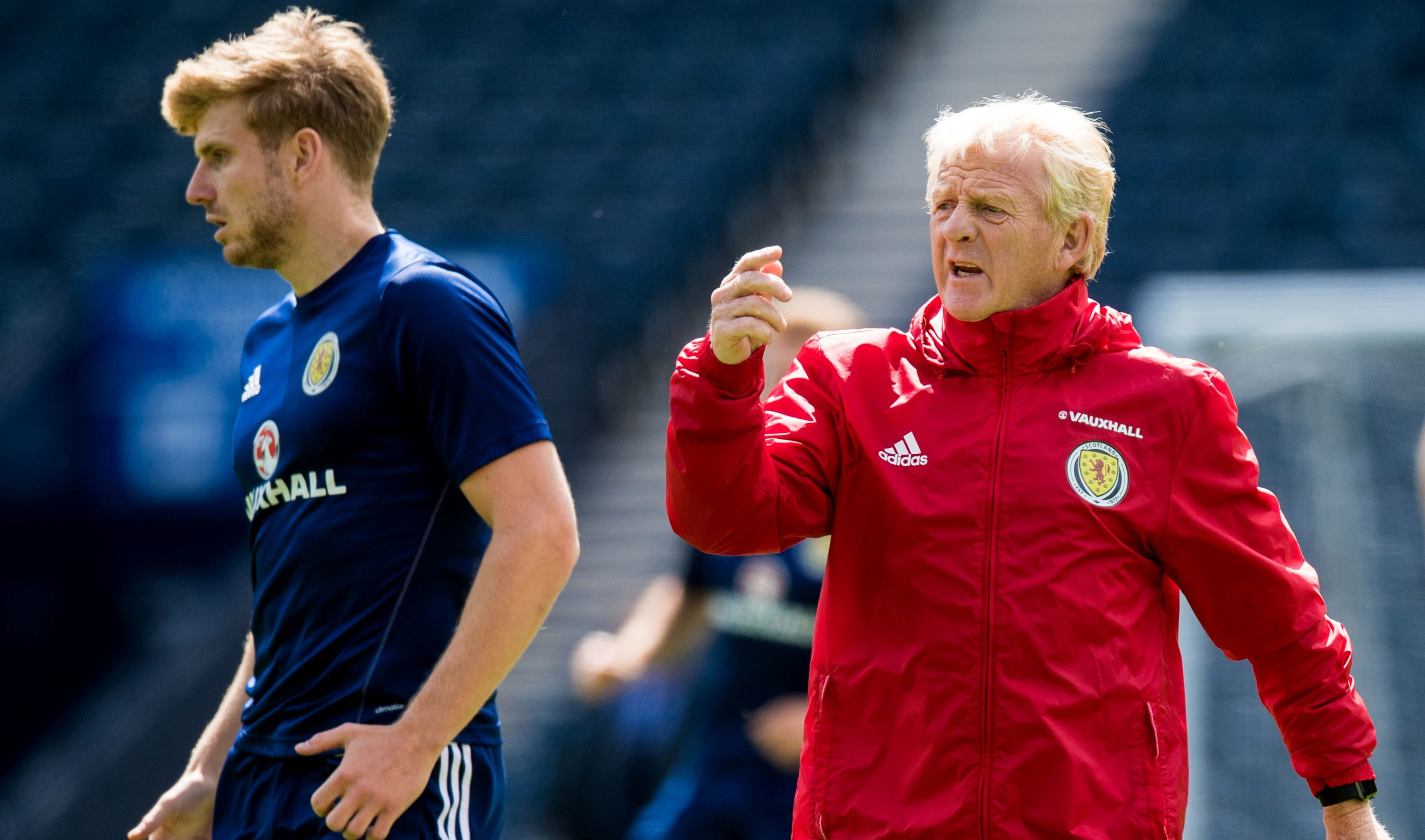 Gordon Strachan with Stuart Armstrong.