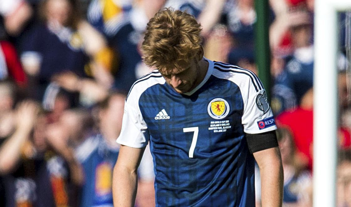 A dejected Stuart Armstrong.