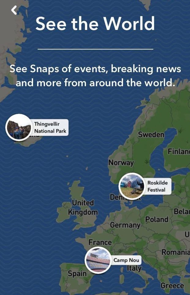 How Snap Map can be used to highlight big events across the world.