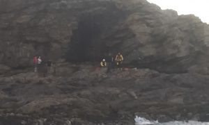 Angus and Mearns volunteers in cliff rescue