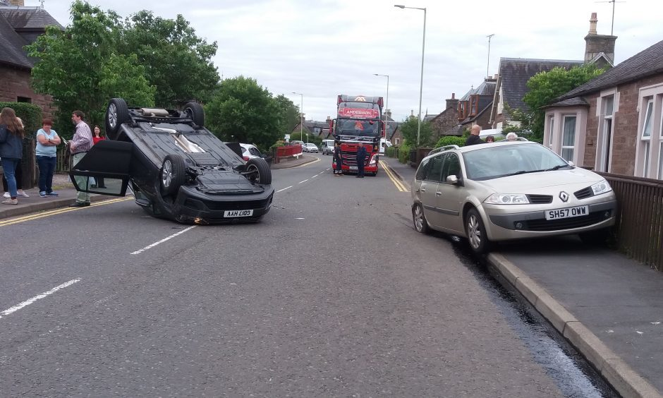The scene of the accident on Perth Road, Blairgowrie.