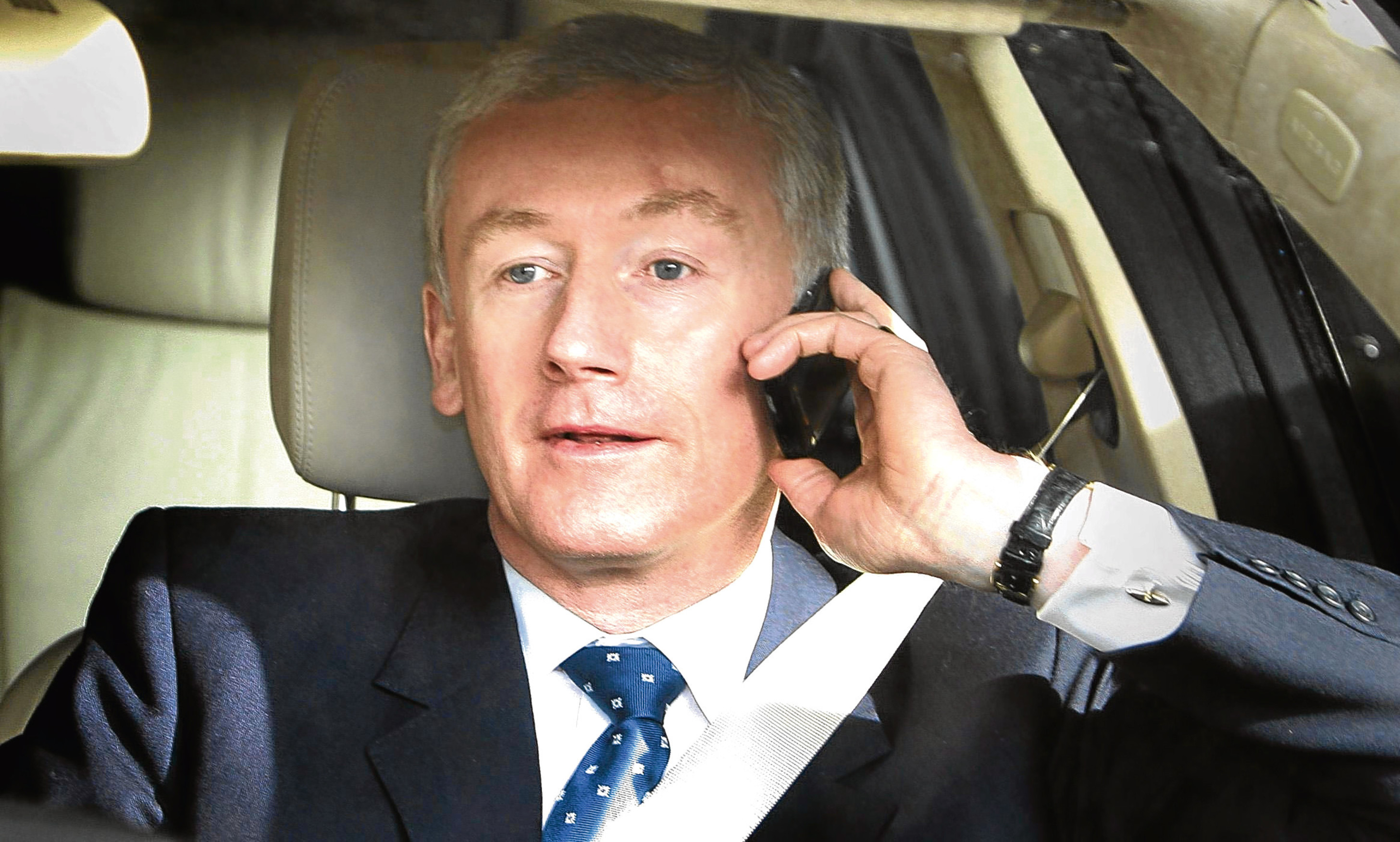 Fred Goodwin pictured in 2008 at the height of the crisis engulfing RBS.