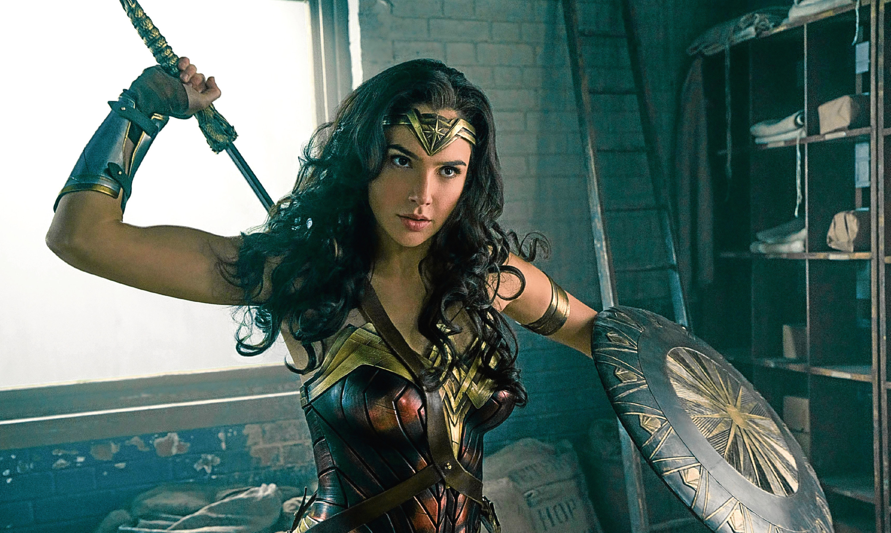 Gal Gadot as Wonder Woman - which you can't see in Lebanon or Tunisia.
