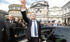 New Irish Taoiseach Leo Varadkar waves to well wishers at Leinster House, Dublin.
