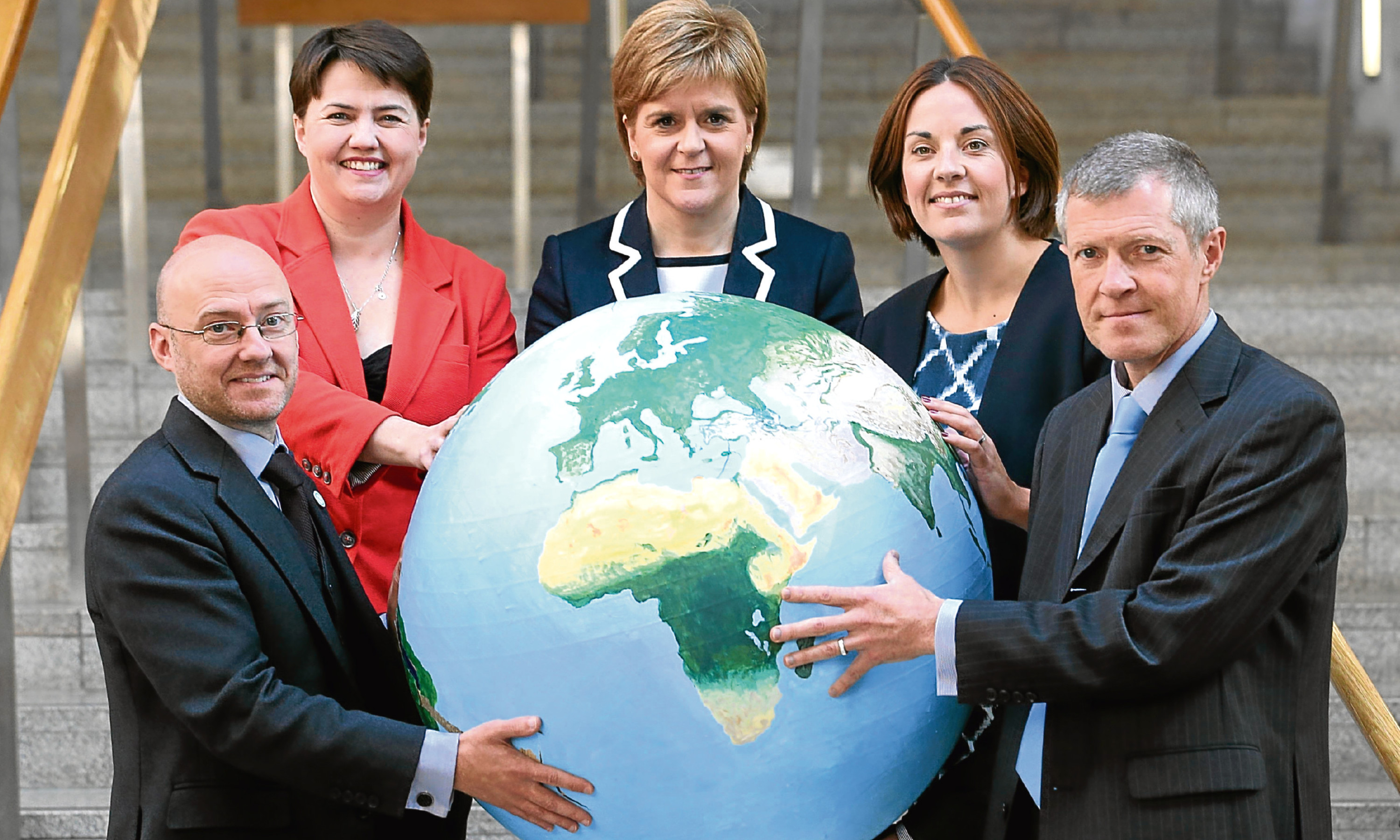 Scotland's party leaders, from left, Patrick Harvie, Ruth Davidson, Nicola Sturgeon, Kesia Dugdale and Willie Rennie.
