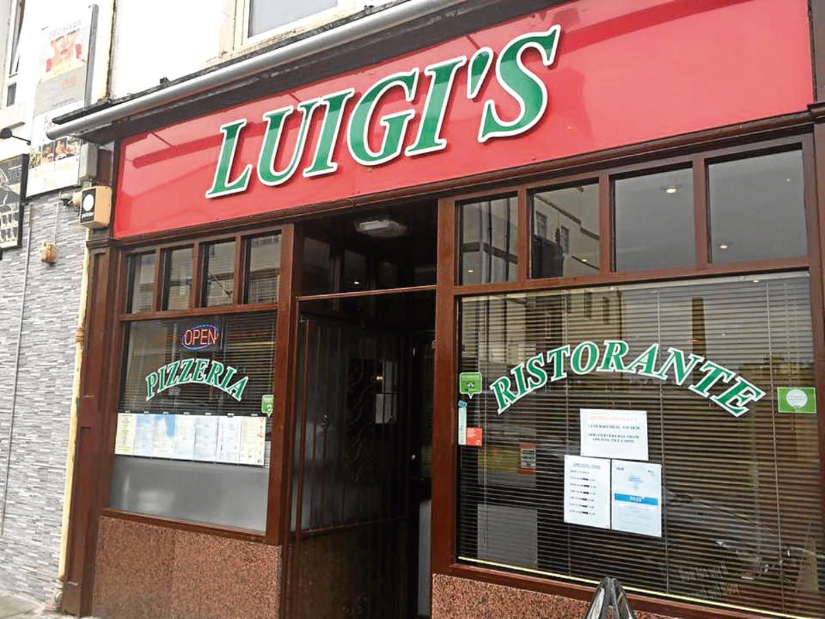 Luigi's in Dunfermline, which has closed.