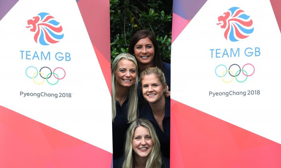 Eve Muirhead with her Olympic team.