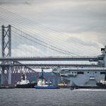 Fife dockyard hailed as aircraft carrier leaves Rosyth