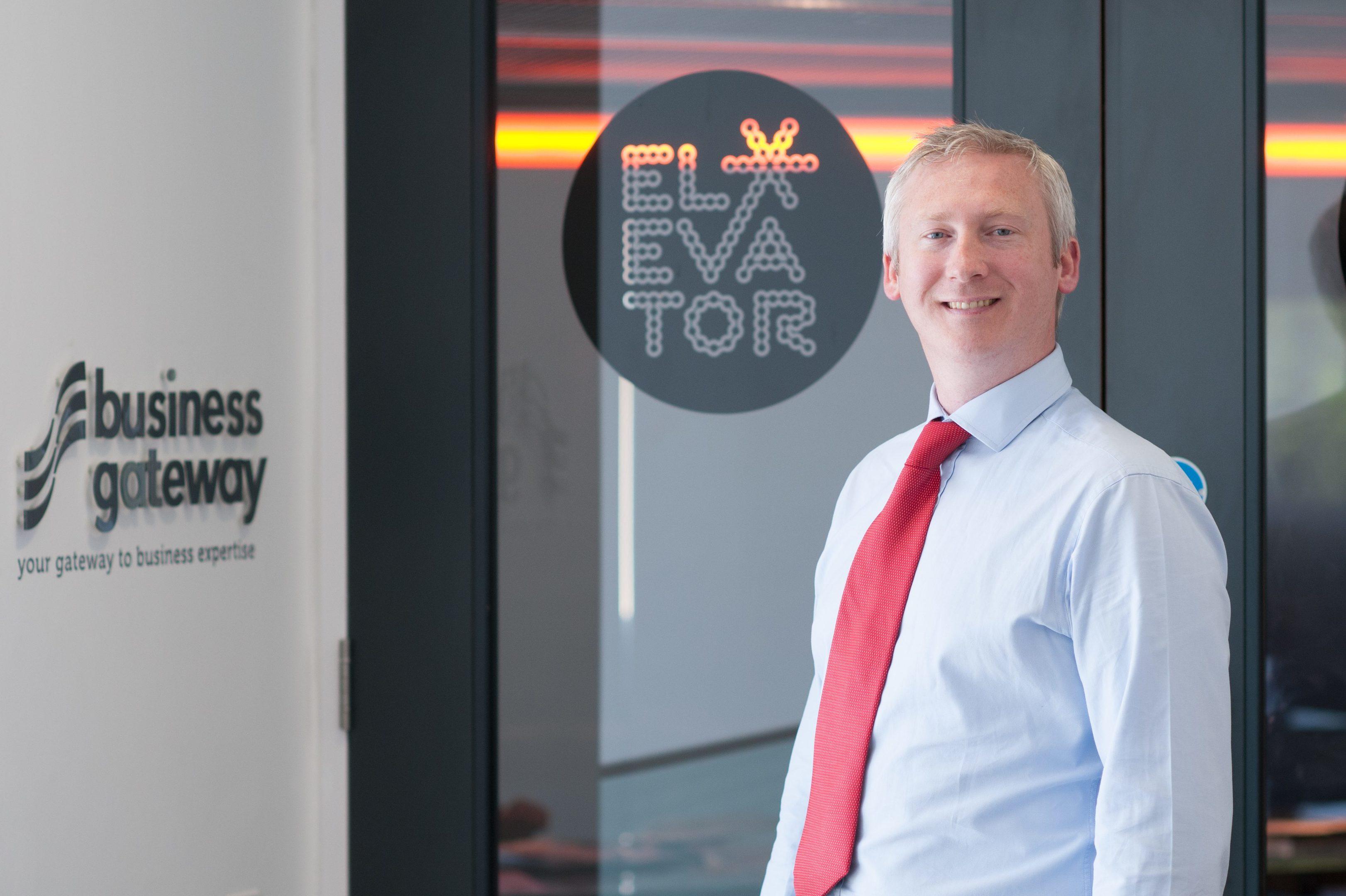 Elevator director Andrew Burnett