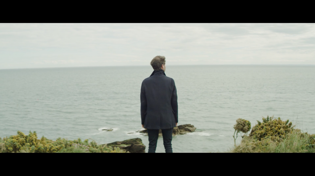 'Jack', played by Max Raskin, on the cliffs at Arbroath