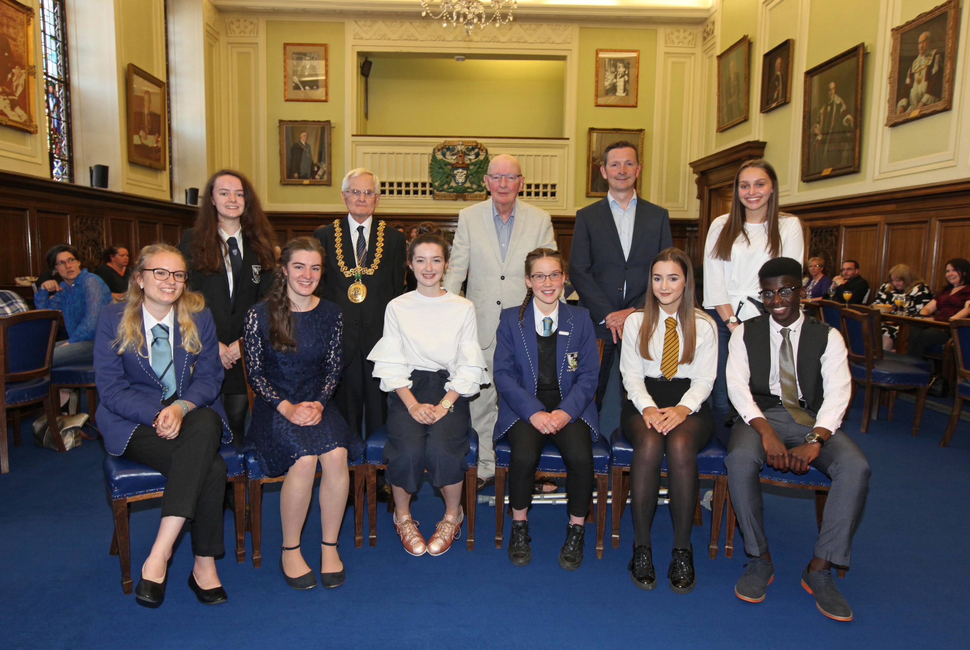 Prizewinners at Tuesday night's ceremony.