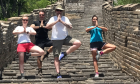 Andrew and his team mates on the Great Wall of China.