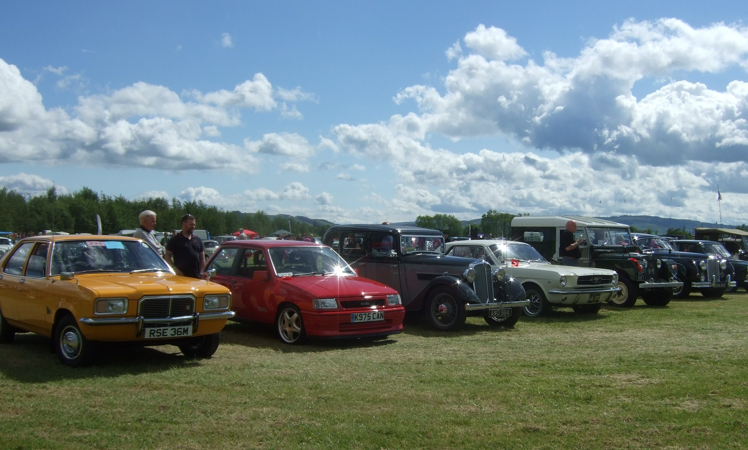 Last year's Tayside Classic Motor Show was blessed with sunshine.