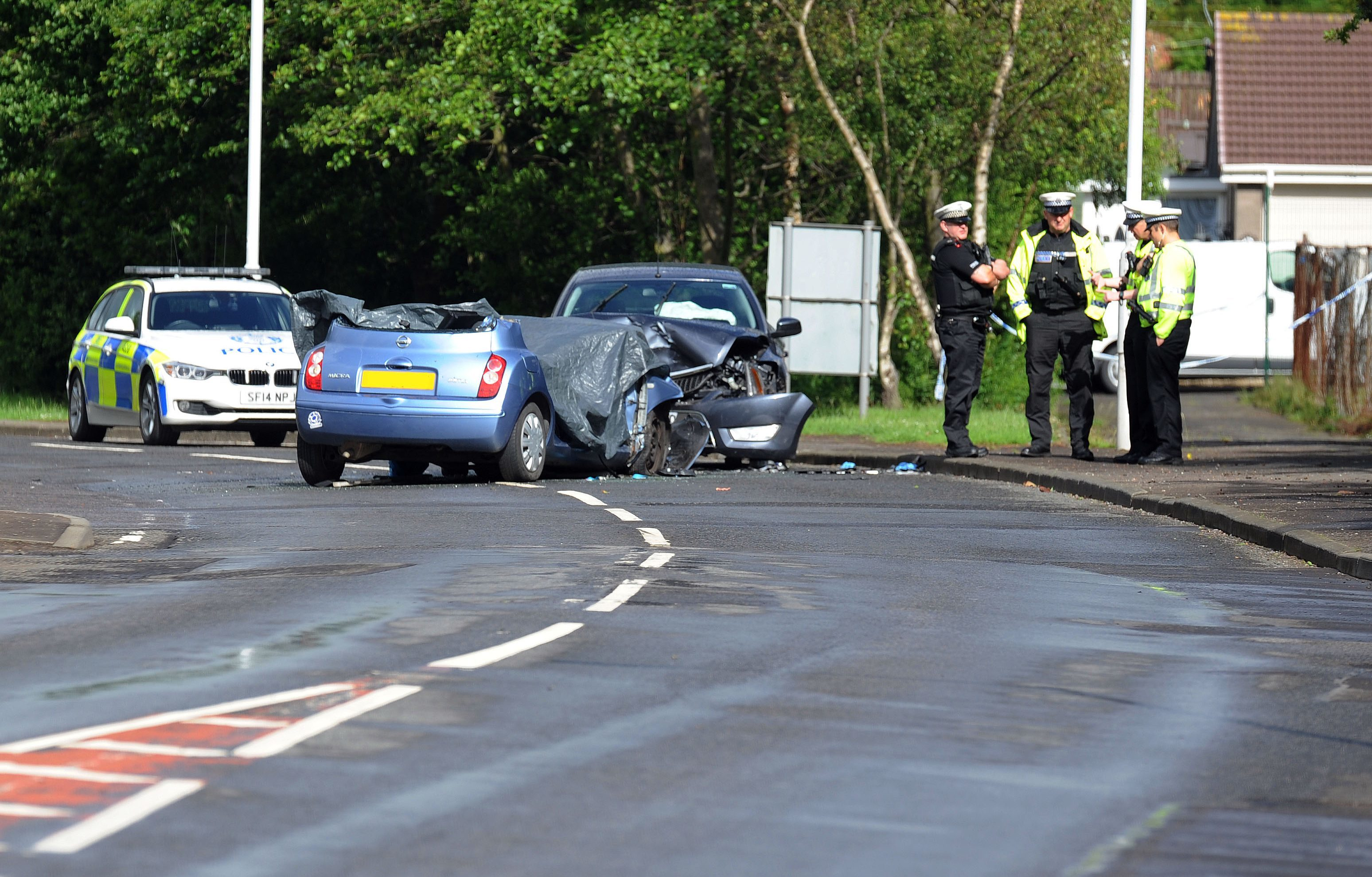The scene of the crash in Oakley.