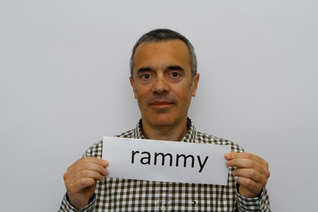 Fabio Sani with one of the words.