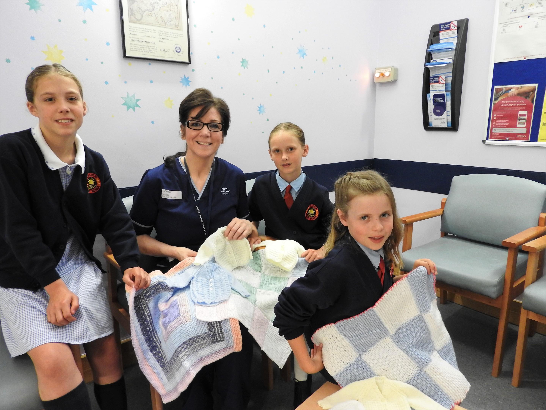 Lia Pert, Senior Charge Nurse Alison Findlay, Katie Briggs and Ellis McEwan.