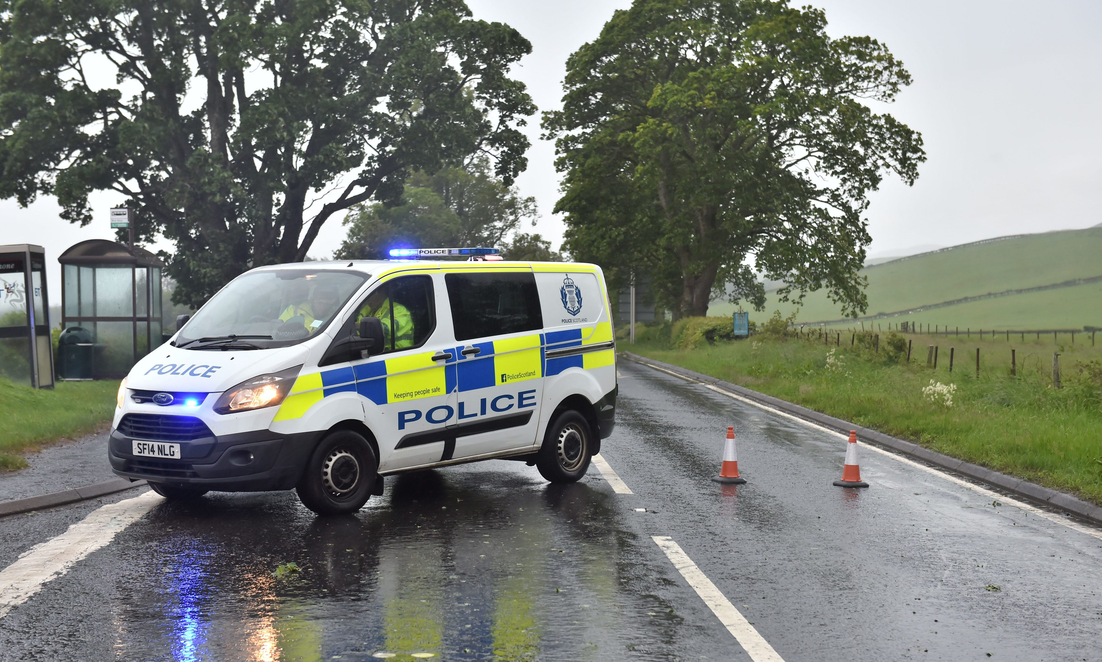 Diversion in place on the A85