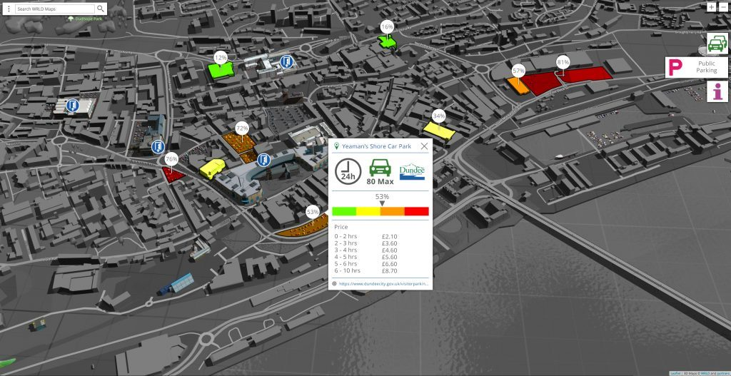 Eegeo Live POI Data Vis (Parking)