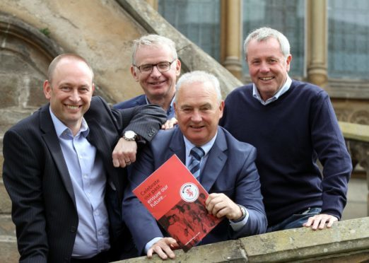 From left: Graham McLelland, Martin Manzi, John Gibson and Mike Evans.