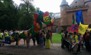 The procession at Hospitalfield House.