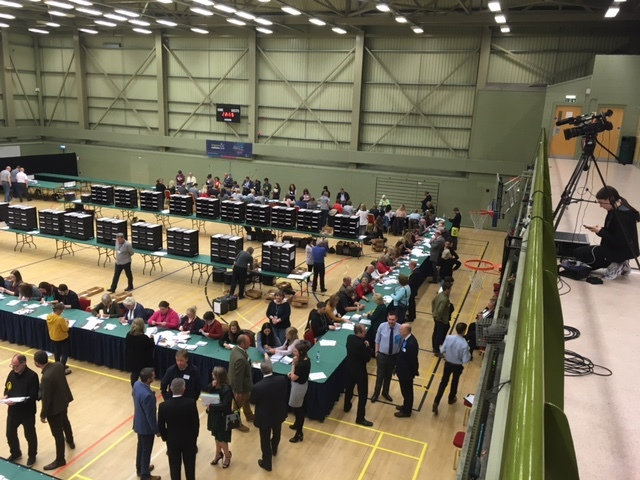 Votes in Dundee East being counted at DISC.