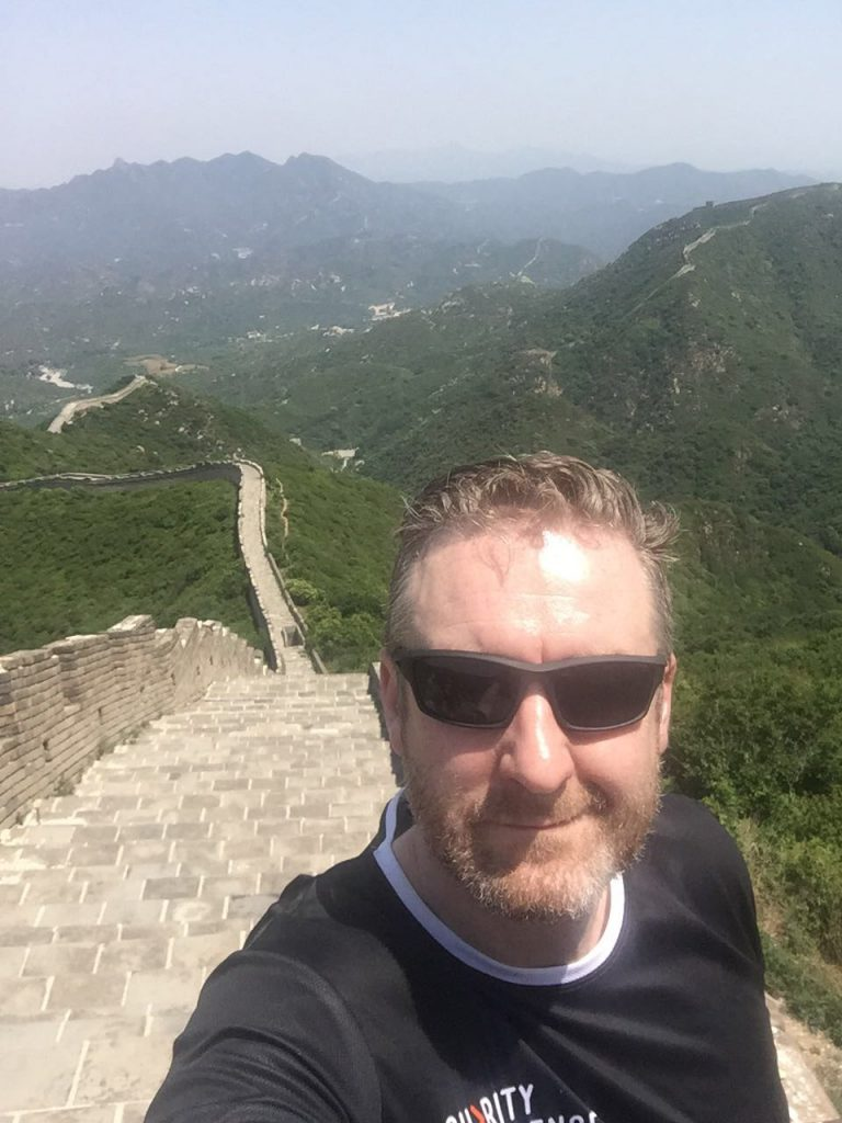 Andy on the Great Wall of China.