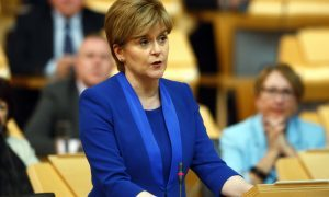 First Minister Nicola Sturgeon makes a statement on IndyRef2. Picture: Andrew Cowan/Scottish Parliament.