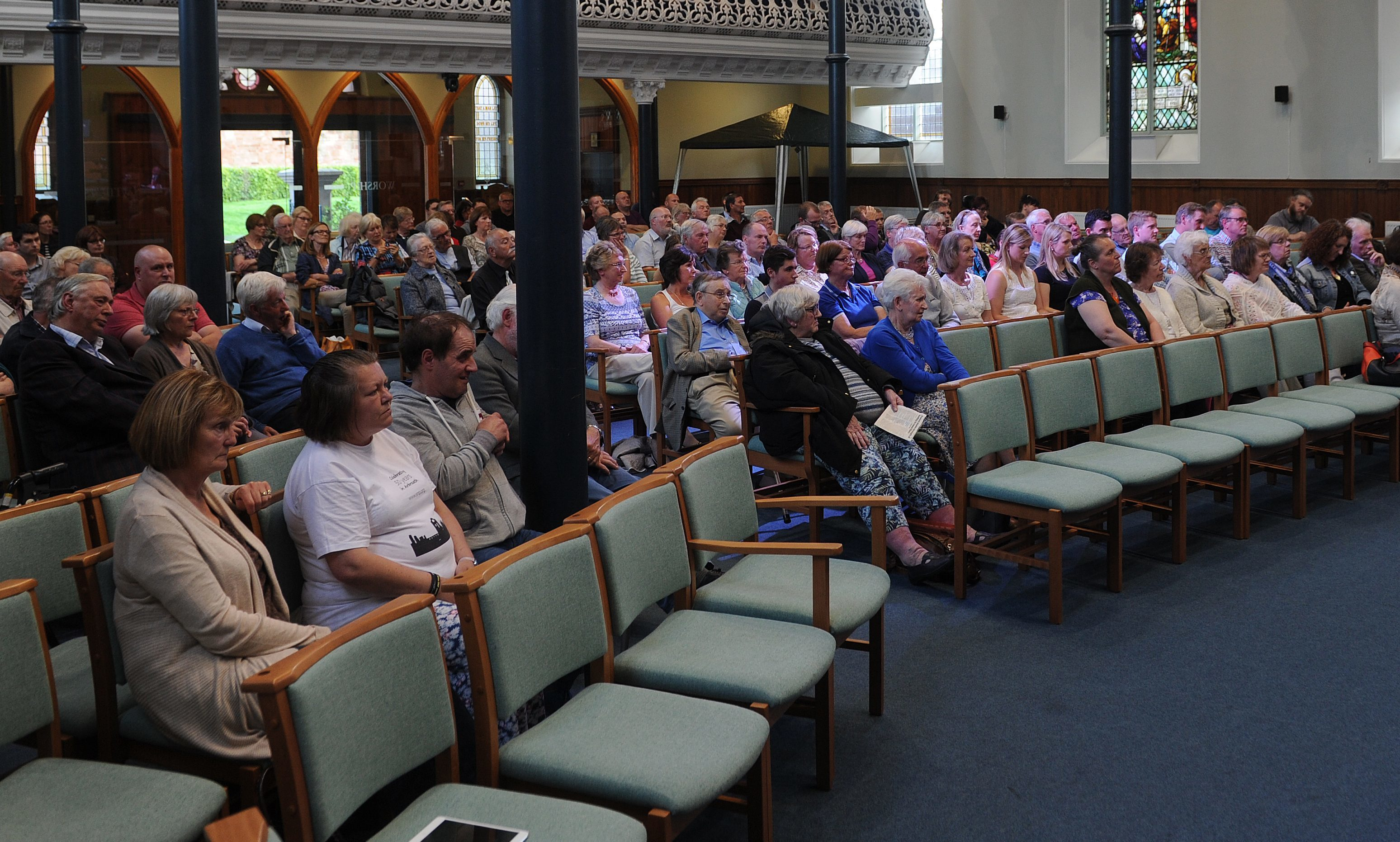 The audience at St Andrews Church, Arbroath.