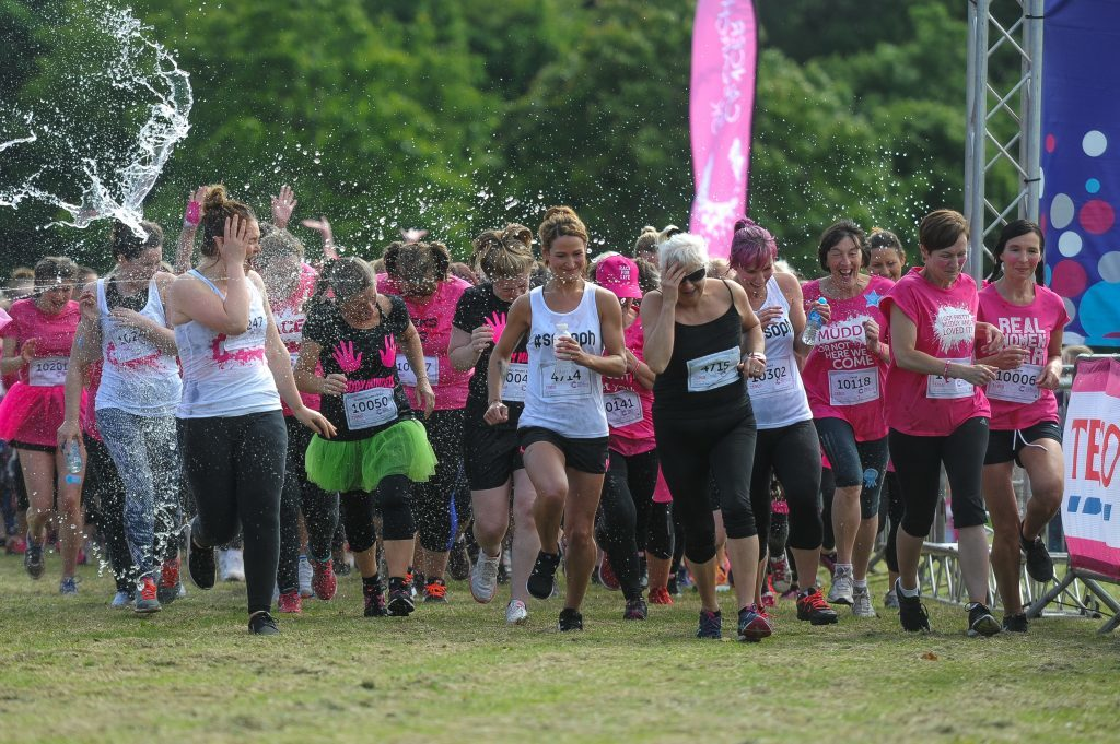 The Race for Life gets underway.