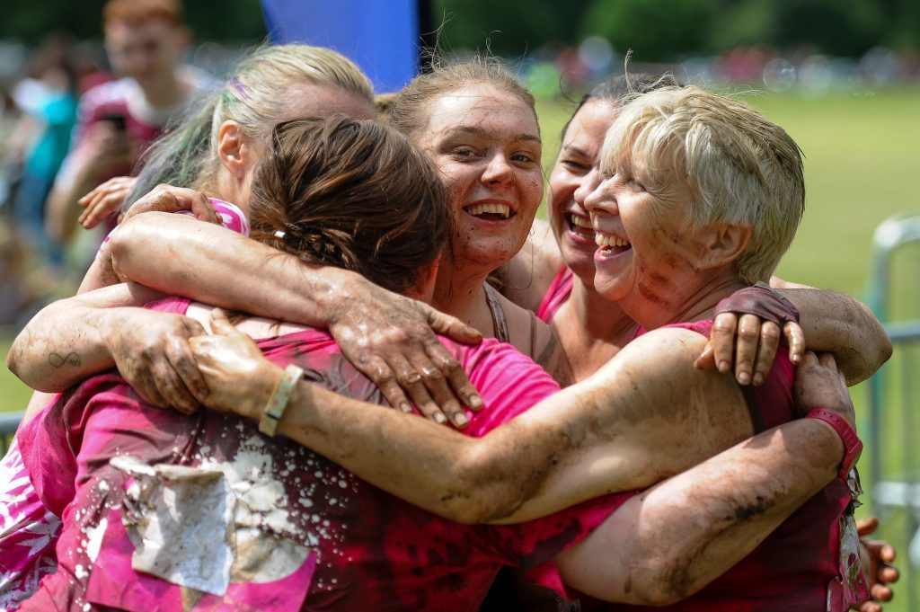 A heart-warming moment at the Race for Life.
