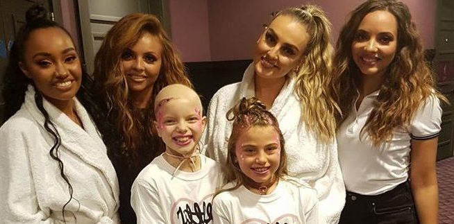 Lily Douglas with friend Erin McNicol and Little Mix at their Dundee concert.