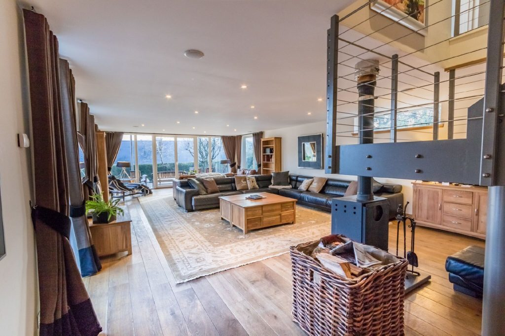 Inside a living room at Mains of Taymouth. Stunning!