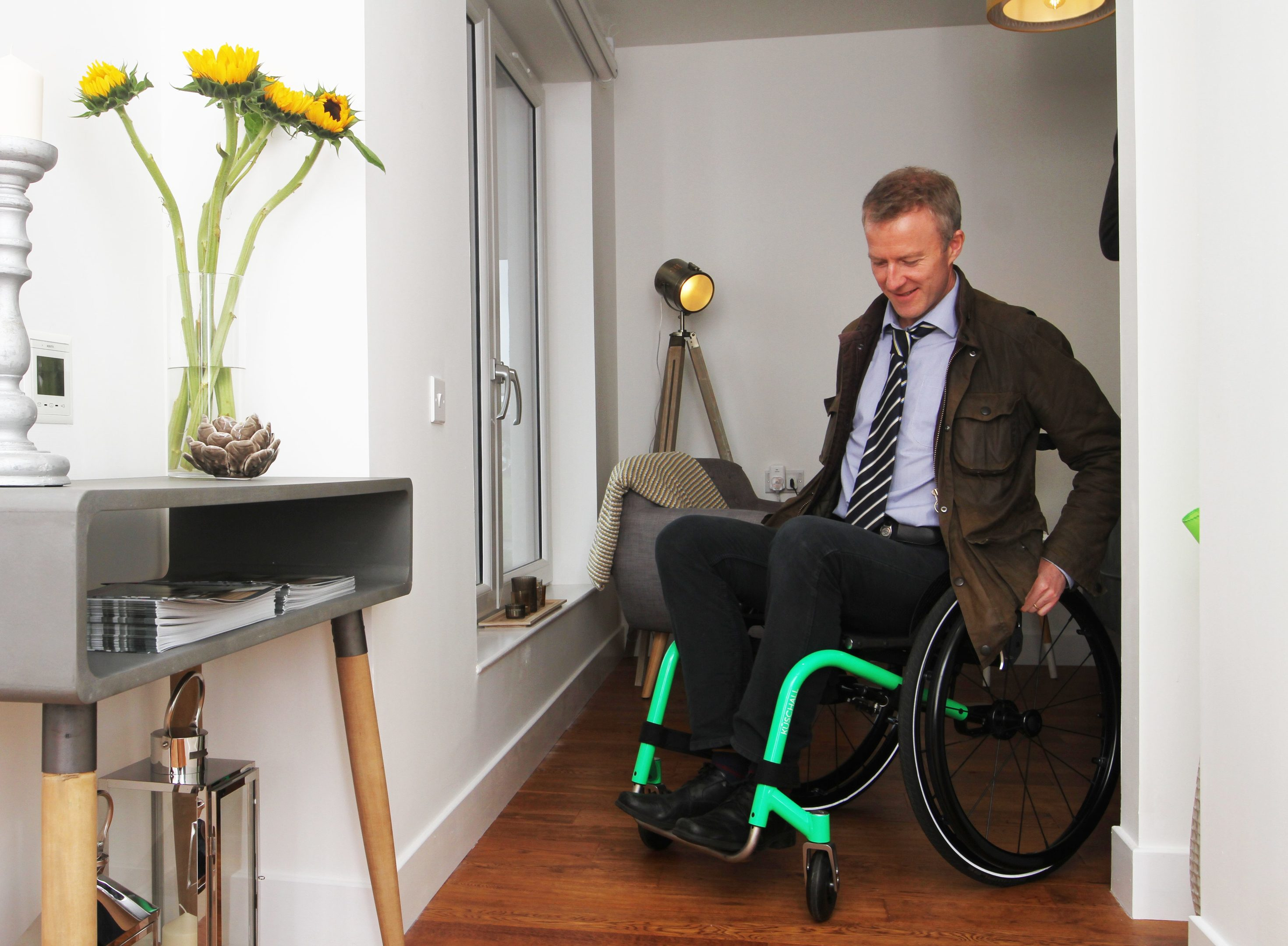 The Courier's Michael Alexander 'road tests' the new wheelchair friendly Blackwood House in Glamis Road, Dundee in 2017