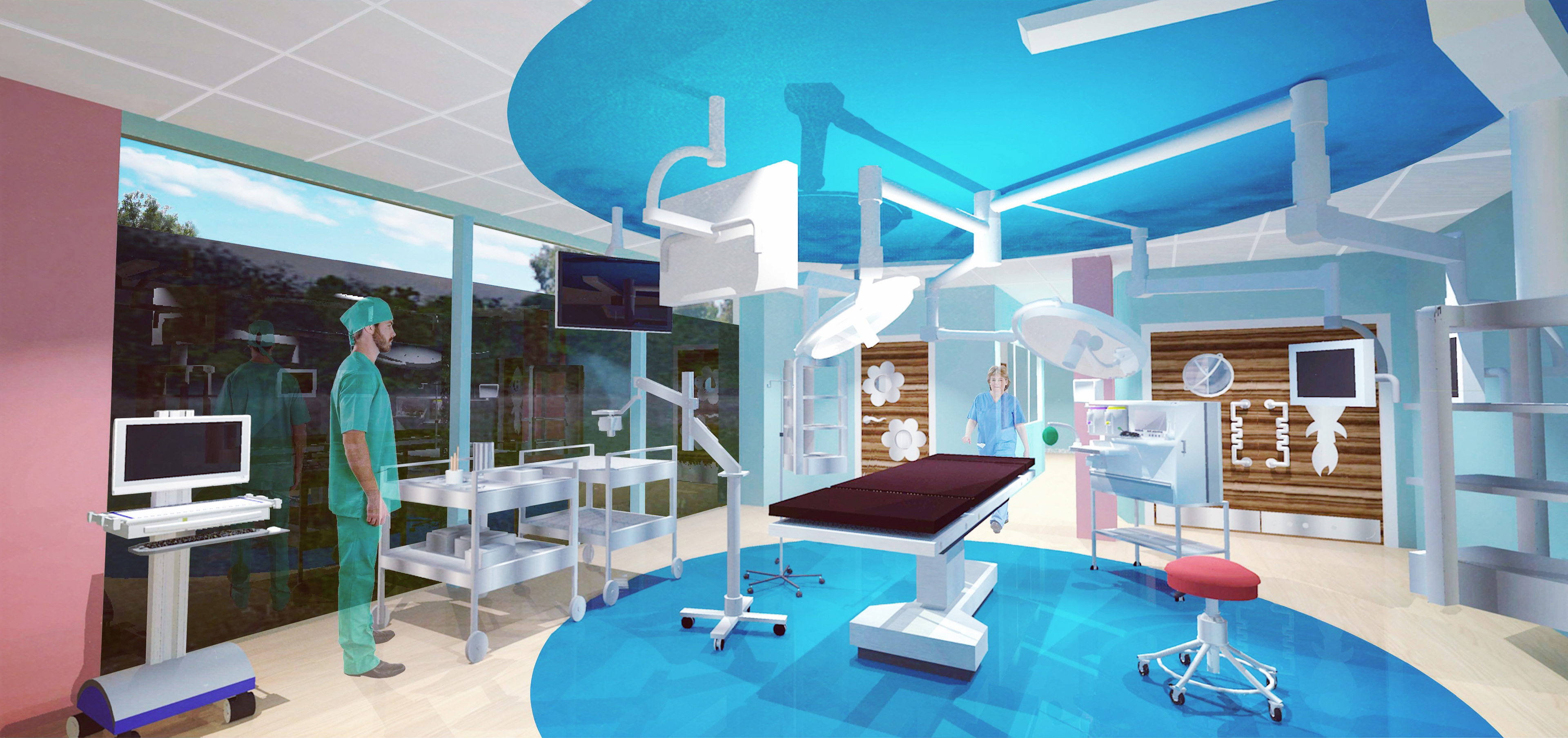 One of the operating theatres.