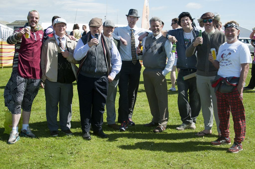 Still Game rugby team at the event.